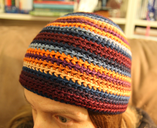 Crochet Beanie Pattern Striped : Striped adult woman crochet beanie pattern Leikitty