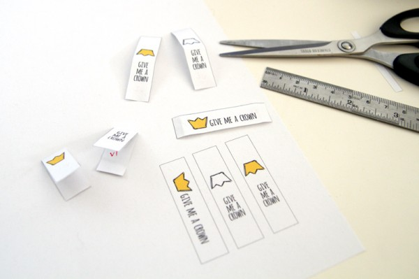 Paper prototyping of fabric labels