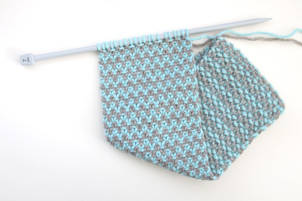 How to knit the weaver's stitch
