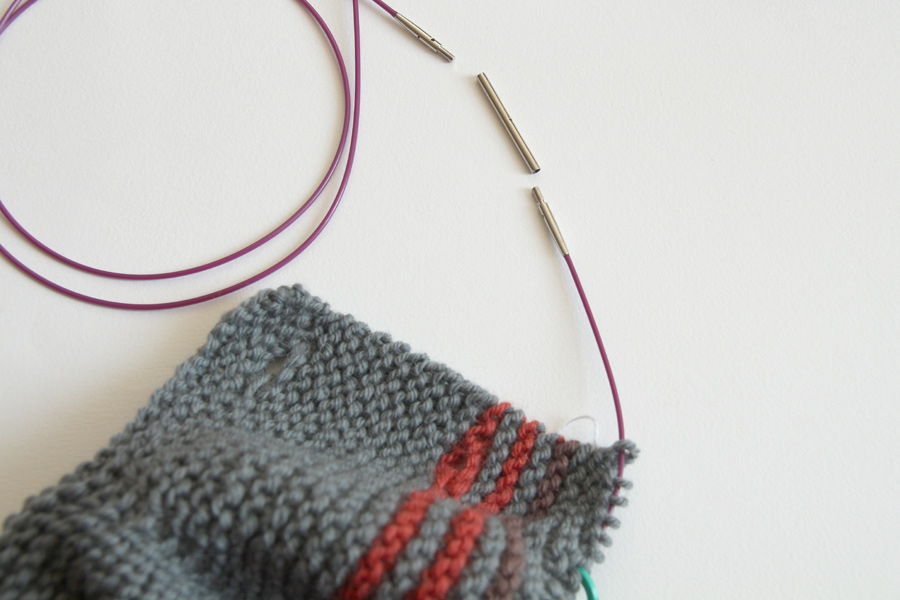 Knitting Circular Needles Without Joining : Checking clothing size with interchangeable knitting