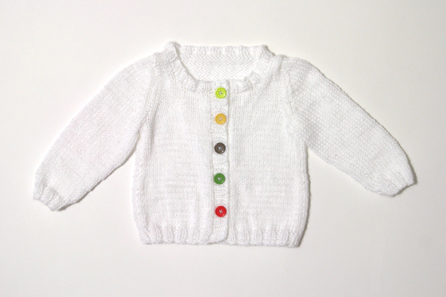 My First Knit Baby Cardigan Leikitty