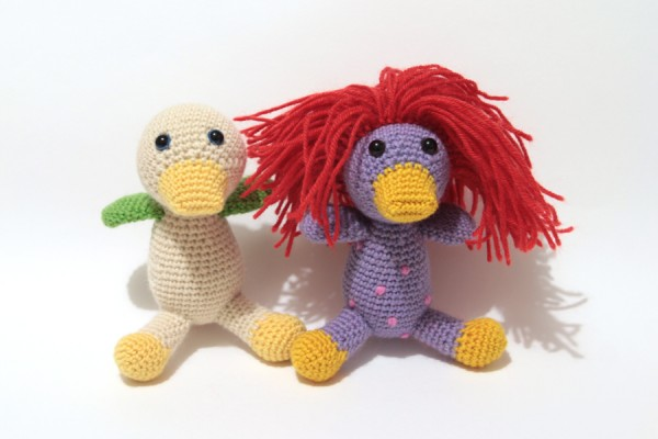 Wild little amigurumi ducks