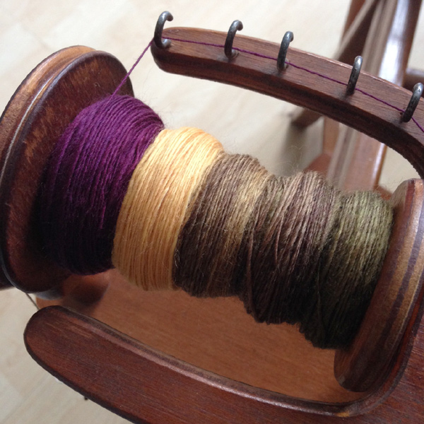 Spinning single ply on a spinning wheel