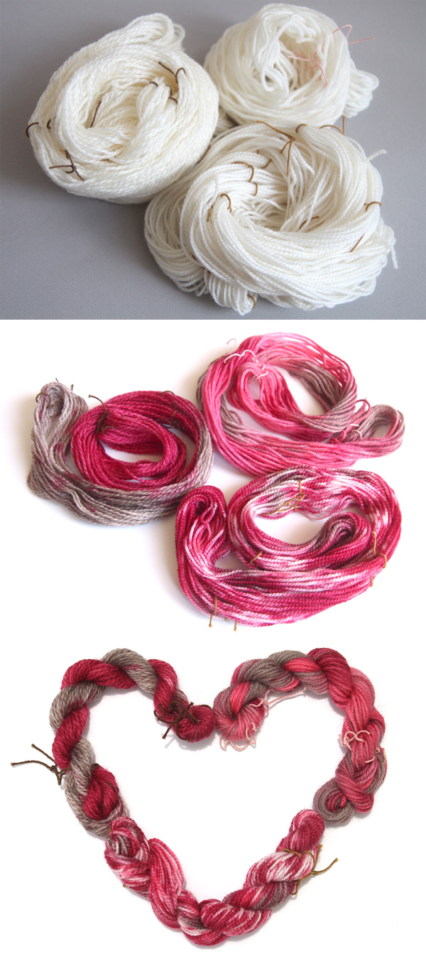 Hand dyed yarn mini skeins